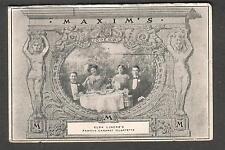 1909 post card Elsa Lincke cabaret Quartette Maxim's Grand Opera Comique NY