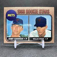 1998 Topps Finest Rookie RC Reprint  #1 Nolan Ryan Jerry Koosman Mets