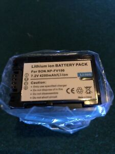7.2V NP-FV100 Battery 4200mAh Li-ion For Sony HDR-PJ580V HDR-CX580V