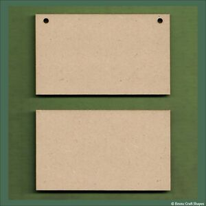 Squares and rectangles wooden plaques, craft boards - 3mm MDF sizes 2cm to 30cm