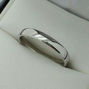 Platinum 3mm Plain Wedding Band / Ring, Finger Size K 1/2