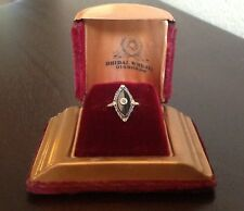 Vintage 14k Onyx and Seed Pearl Ring, 2.4g, Size 6, Vintage Box included