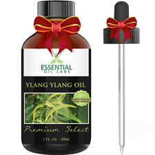 Essential Oil Labs Premium Select Pure Ylang Ylang Oil 1 oz with Glass Dropper