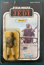 Star Wars Kenner Vintage Weequay  1983 65 Back ROTJ MOC JABBA PALACE