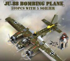 JU-88 Bomber Avion Militaire Allemand WW2 Figurine Soldats compatible avec Lego