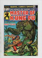 Master Of Kung Fu #19 - Man-Thing App - Retreat! - (Grade 9.2) 1974