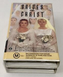 BRIDES OF CHRIST VHS PART 1 AND PART 2 Double Clamshell Case Mini Series ABC