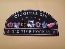 "AWESOME NHL ORIGINAL SIX 6"" X 3"" IRON ON PATCH BRUINS, BLACK HAWKS, RED WINGS ++"