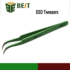 BGA REWORK SOLDERING ANTI-STATIC STAINLESS STEEL ESD TWEEZER SOLDER IRON
