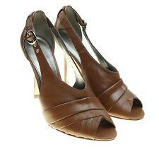 MARC FISHER Womens Brown Slingback Peep Toe Pumps Heels Size 6.5