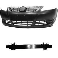 Set Kit Stoßstange vorne schwarz grundiert +Träger VW Fox 5Z1 5Z3 Bj. 05->>