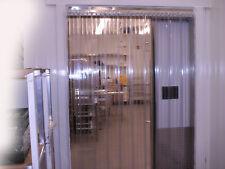 Vinyl Strip Door Curtain 96 in. X96 in. Cooler/Freezer Ribbed Hardware Included