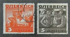 nystamps Austria Stamp # 378-379 Used $46