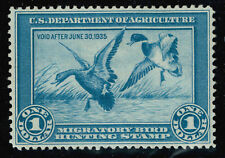 RW 1  US Fed Duck Stamp Migratory Bird Hunting License 1934  M-OG-VLH.  VF-XF