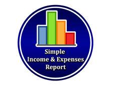 Simple Income & Expenses Report Software Computer Laptop Desktop Program System