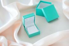 """""""Manhattan"""" Stud Earring or Pendant Box in Turquoise w/Silver Trim"""