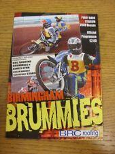 03/05/2009 Speedway Programme: Birmingham v Kings Lynn [Premier Trophy] (results
