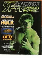 WoW SF Color Poster Book #1 Battlestar Galactica! Hulk! Spider-Man! Wonder Woman