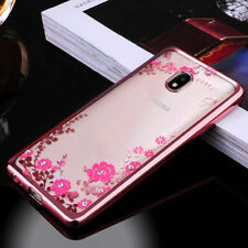 Luxury Diamond Flower Slim Clear Case Cover For Samsung Galaxy Note 8 J7/5 S9 S8