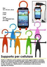 Soporte para teléfono celular pared universal en silicona