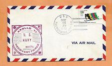 APOLLO 17 SPLASHDOWN DEC 19,1972 USS TICONDEROGA SPACE COVER
