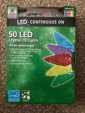 Home Accents Holiday 50 MULTI COLOR LED Faceted Crystal C5 Light String 16