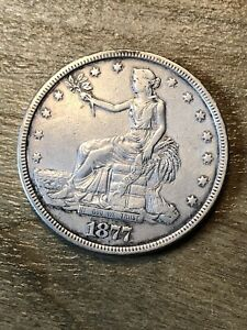 1877 Trade Dollar VF+