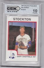 1987 Gary Sheffield Procards #239 GEM 10 ----> This Stars Best and First Card!!!