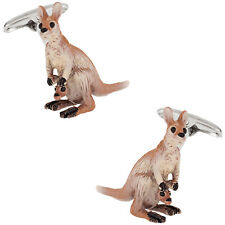 Kangaroo Cufflinks Hand Painted Direct from Cuff-Daddy