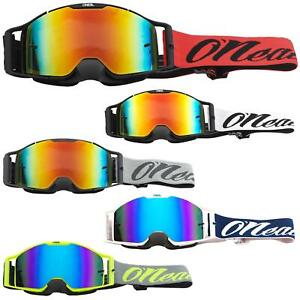 O'Neal B-30 Goggle Reseda Moto Cross Brille Rot Radium Downhill Enduro Trail DH
