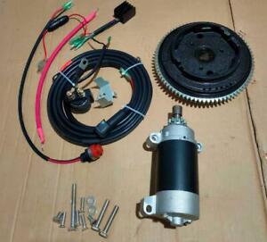 ELECTRIC START KIT FOR YAMAHA OUTBOARD F15 4 STROKE 15HP 4 stroke 6AGK FLYWHEEL