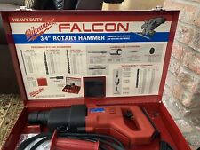 Milwaukee Falcon 3/4� Rotary Hammer In Metal Case And With Drill Bits -used