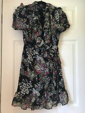 Miss Sixty womens size 12 black foral wrap dress never been worn