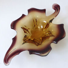 Yellow Vintage Original Retro Italian Art Glass