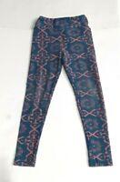 Lularoe Girls Blue & Pink Polyester Spandex Leggings Size S/M