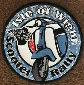 IOW ISLE OF WIGHT 2011 EMBROIDERED SCOOTER PATCH LAST FEW REMAINING! FREE POST