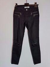"ONLY Damen Jeans ""OLIVIA COATED NOOS""  Gr. S Skinny dunkelgrau destroyed Look"