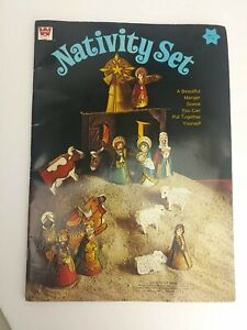 1973 Paper Doll Whitman First Christmas Nativity Set Press Out Assemble (1B3)
