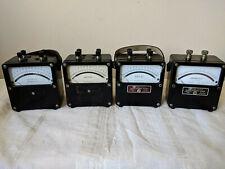 Lot Of 4 Vintage Weston Voltmeters Amp Ampmeter