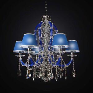 Chandelier Crystal Classic Blue 6 Lights Bga 2434-6 Design Op