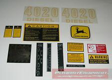 John Deere Tractor Hood Decal Set 4020 DIESEL~D-JD4020 JD417S