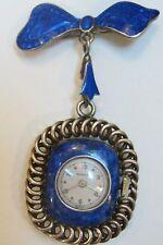 Nadine ladies blue enamel watch W bow FOB-unique