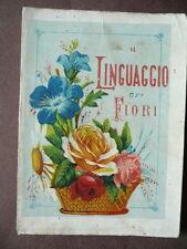 Libri Antichi Linguaggio Fiori 1895 illustrato  Simbologia Storia Giardinaggio