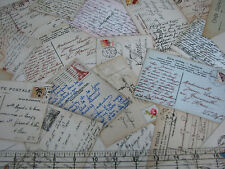 1 Yard Quilt Cotton Fabric- Elizabeth's Studio Spring in Paris Postcards Cream