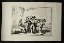 Bartolomeo.PINELLI:LA ZINGARA CHE INDOVINA..ROMATav.26.1816.Acquaforte,Cm 42x27