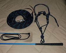 SOFT OR STIFF HALTER, 14' LEAD ROPE, HANDY CARROT STICK FITS PARELLI TRAINING