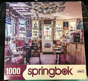 Springbok Puzzle Retro Rewind 1000 Pieces Diner Service Store Station Gas 2015