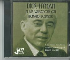 cd dick hyman plays variations on richard rodgers solo piano variations on the g