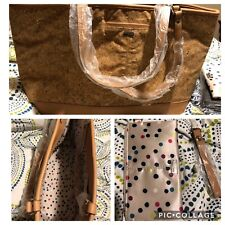 New Thirty one Jewell Style setter Tan Metallic Cork Sparkles Tote bag 31 gift b