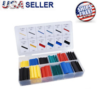 280pcs HEAT SHRINK TUBING Sleeve Cable Wire Wrap Tube 2:1 Assortment Kit Box Set